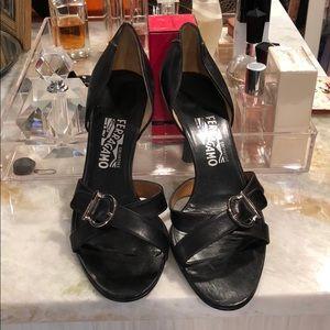 Auth Ferragamo Heeled Sandals Sz 10